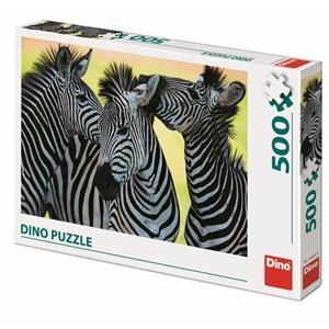 "Dino (50226) - ""3 Zebras"" - 500 pièces"