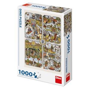 "Dino (53251) - Josef Lada: ""Year's Seasons"" - 1000 pièces"