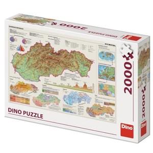 """Dino (56120) - """"Carte de la Slovaquie"""" - 2000 pièces"""