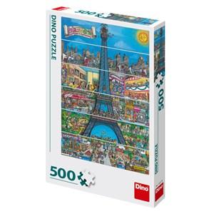 """Dino (50237) - """"Paris, France"""" - 500 pièces"""