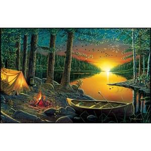 "SunsOut (51844) - Ervin Molnar: ""Evening by the Lake"" - 550 pièces"