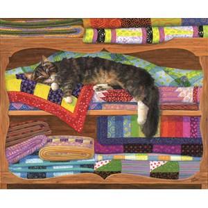 """SunsOut (31649) - Linda Elliott: """"Quilt Cupboard"""" - 1000 pièces"""