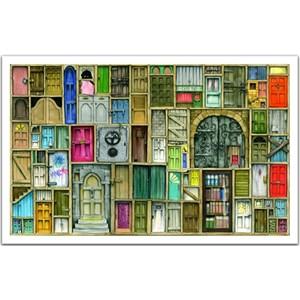 """Pintoo (h1201) - Colin Thompson: """"Portes fermées"""" - 1000 pièces"""