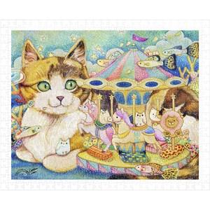 """Pintoo (h2152) - Cotton Lion: """"Merry-Go-Round"""" - 500 pièces"""