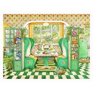 """Pintoo (h2002) - Janet Kruskamp: """"Breakfast Nook"""" - 1200 pièces"""