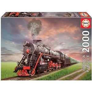 """Educa (18503) - """"Stream Locomotive"""" - 2000 pièces"""