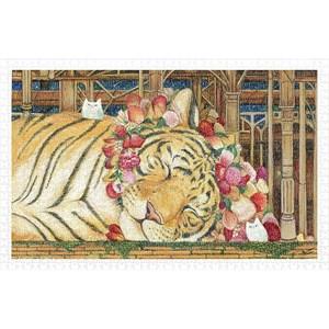 "Pintoo (h2146) - Cotton Lion: ""Goodnight Tiger"" - 1000 pièces"