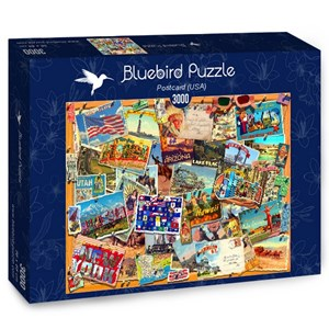 "Bluebird Puzzle (70170) - Garry Walton: ""Postcard (USA)"" - 3000 pièces"