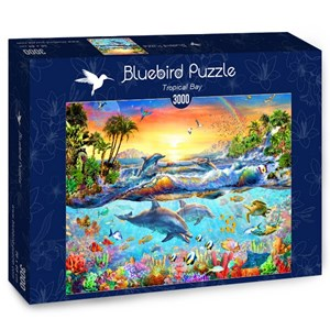 "Bluebird Puzzle (70194) - Adrian Chesterman: ""Tropical Bay"" - 3000 pièces"