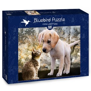 "Bluebird Puzzle (70004) - ""Kitten and Puppy"" - 500 pièces"