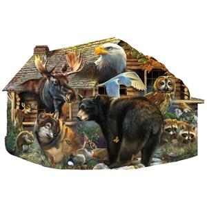 "SunsOut (97186) - Rebecca Latham: ""Wildlife Cabin"" - 1000 pièces"