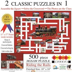 """SunsOut (10162) - Irv Brechner: """"Puzzle Combo, Riding the Rails"""" - 500 pièces"""