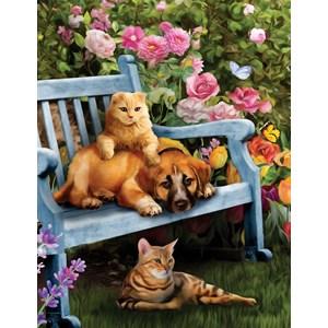"""SunsOut (28894) - Celebrate Life Gallery: """"Garden Hangout"""" - 500 pièces"""