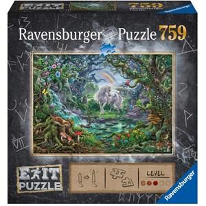 "Ravensburger (15030) - ""EXIT Unicorn (in German)"" - 759 pièces"