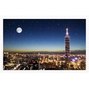 """Pintoo (h1719) - """"Taipei Skyline"""" - 1000 pièces"""