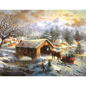 "SunsOut (19319) - Nicky Boehme: ""Over the Covered Bridge"" - 1000 pièces"