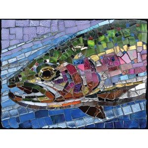 """SunsOut (70711) - Cynthie Fisher: """"Stained Glass Rainbow Trout"""" - 1000 pièces"""