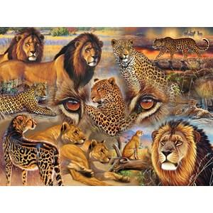 """SunsOut (70934) - Janet Stever: """"Big Cats of the Plains"""" - 500 pièces"""