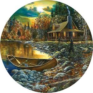 """SunsOut (74106) - Jim Hansel: """"Fall Cabin"""" - 500 pièces"""
