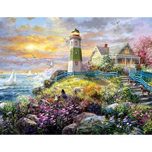 "SunsOut (19309) - Nicky Boehme: ""A Lighthouse Memory"" - 1000 pièces"
