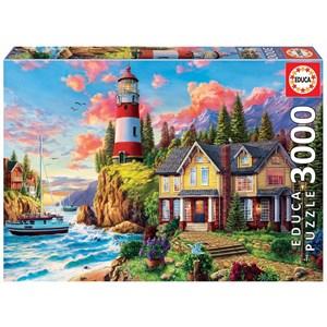 """Educa (18507) - """"Lighthouse Near The Ocean"""" - 3000 pièces"""