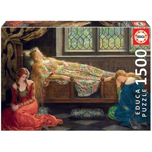 "Educa (18464) - John Collier: ""The Sleeping Beauty"" - 1500 pièces"