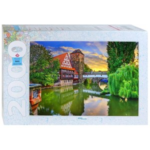 "Step Puzzle (84039) - ""Hangman's Bridge Nuremberg, Allemagne"" - 2000 pièces"
