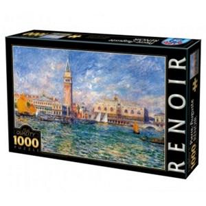 """D-Toys (74911) - Pierre-Auguste Renoir: """"Le Palais des Doges, Venise"""" - 1000 pièces"""