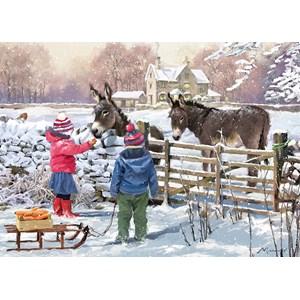 "Otter House Puzzle (73571) - The MacNeil Studio: ""Little Donkey"" - 1000 pièces"