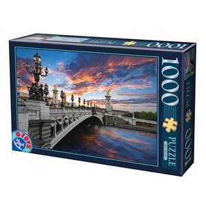 """D-Toys (74744) - """"Pont Alexandre III, Paris"""" - 1000 pièces"""