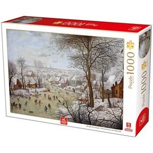 "Deico (76656) - Brueghel le Jeune: ""Winterlandscape with a Bird Traps"" - 1000 pièces"
