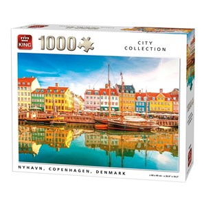 "King International (05704) - ""Nyhavn, Copenhaguen, Denmark"" - 1000 pièces"
