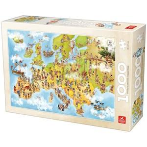 """Deico (76120) - """"Carte de l'Europe"""" - 1000 pièces"""