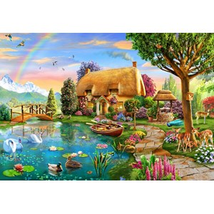 "Bluebird Puzzle (70254) - Adrian Chesterman: ""Lakeside Cottage"" - 6000 pièces"