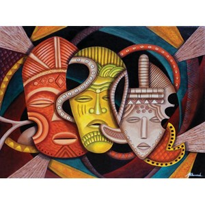 """SunsOut (39365) - Marcella Muhammad: """"Society Masks"""" - 1000 pièces"""