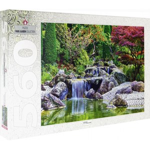 "Step Puzzle (78103) - ""Waterfall At Japanese Garden, Bonn, Germany"" - 560 pièces"