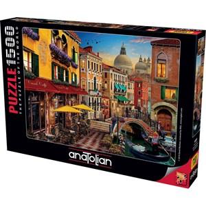 "Anatolian (4553) - David McLean: ""Canal Cafe Venice"" - 1500 pièces"