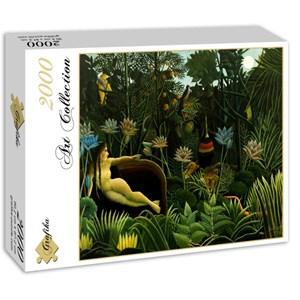 """Grafika (00851) - Henri Rousseau: """"The Dream, 1910"""" - 2000 pièces"""