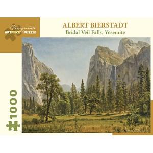 "Pomegranate (aa1029) - Albert Bierstadt: ""Bridal Veil Falls, Yosemite Valley, California"" - 1000 pièces"