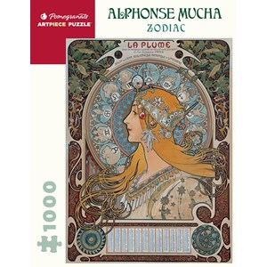 "Pomegranate (aa1085) - Alphonse Mucha: ""Zodiac"" - 1000 pièces"