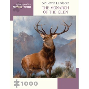 """Pomegranate (aa1007) - Sir Edwin Landseer: """"The Monarch of the Glen"""" - 1000 pièces"""