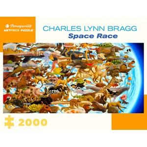 "Pomegranate (aa1079) - Charles Lynn Bragg: ""Space Race"" - 2000 pièces"