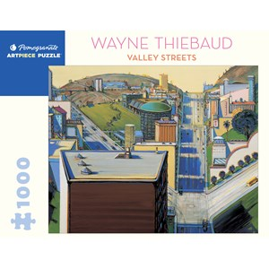 "Pomegranate (aa1080) - Wayne Thiebaud: ""Valley Streets"" - 1000 pièces"