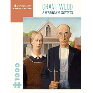 """Pomegranate (aa1081) - Grant Wood: """"American Gothic"""" - 1000 pièces"""