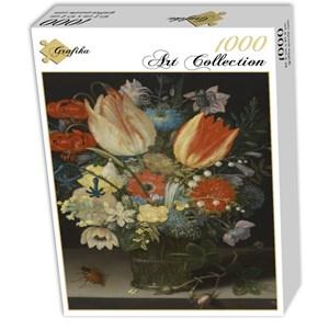 """Grafika (01582) - Peter Binoit: """"Nature Morte avec des Tulipes, 1623"""" - 1000 pièces"""