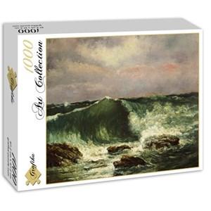 """Grafika (01157) - Gustave Courbet: """"La Vague, 1870"""" - 1000 pièces"""