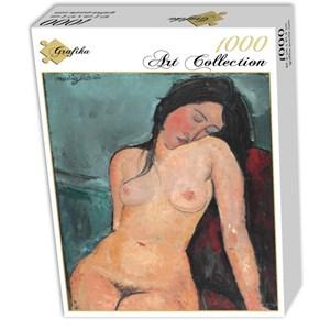 "Grafika (01180) - Amedeo Modigliani: ""Femme nue assise, 1916"" - 1000 pièces"
