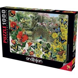 """Anatolian (1084) - Barbara Behr: """"Peacock in the Garden"""" - 1000 pièces"""