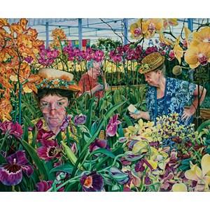 """SunsOut (44272) - Susan Brabeau: """"Orchids with Mantis"""" - 1000 pièces"""