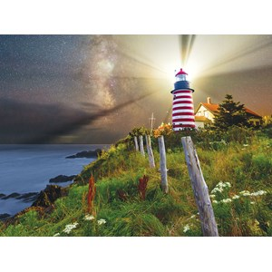"SunsOut (45701) - Michael Blanchette: ""Night over West Quoddy Lighthouse"" - 1000 pièces"